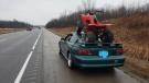 OPP pulled this vehicle over after it was spotted on Highway 403 in Brant County. (Courtesy OPP West Region)