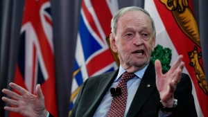 Former prime minister Jean Chretien speaks at an event held by the University of Ottawa Professional Development Institute and the Canada School of the Public Service, in Ottawa, on Tuesday, March 3, 2020. THE CANADIAN PRESS/Justin Tang