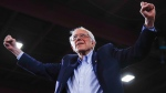 In this file photo, Democratic presidential candidate Sen. Bernie Sanders, I-Vt., arrives at a primary night election rally in Essex Junction, Vt., Tuesday, March 3, 2020. (AP / Matt Rourke)
