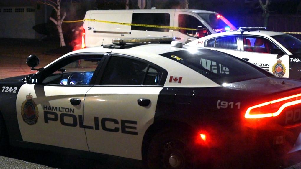 hamilton police cruiser, shooting
