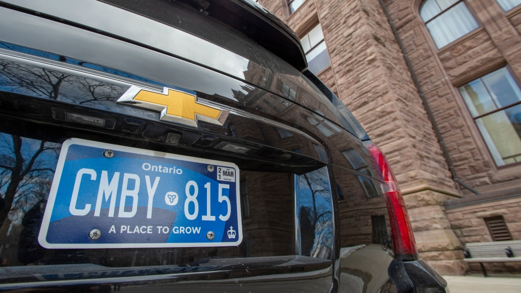 Ontario licence plates