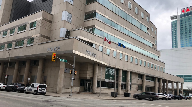 Windsor police headquarters in Windsor, Ont., on Wednesday, March 4, 2020. (Melanie Borrelli / CTV Windsor)