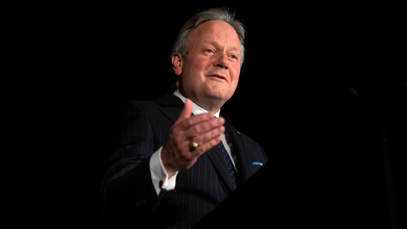 Bank of Canada governor Stephen Poloz speaks in Toronto on Thursday, March 5, 2020. THE CANADIAN PRESS/Chris Young