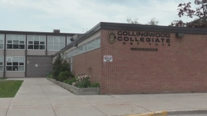 Collingwood Collegiate Institute in Collingwood. (Mike Arsalides/CTV News)