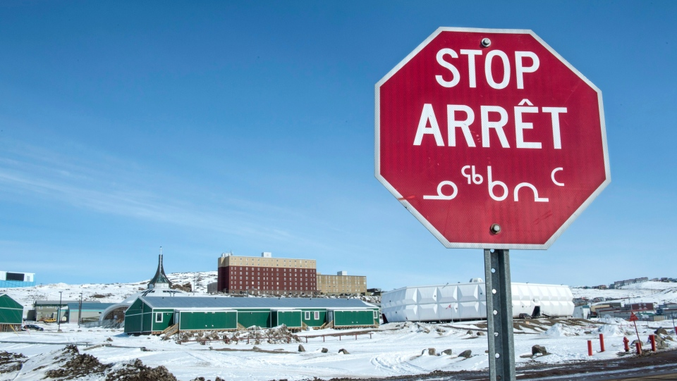 Inuit stop sign