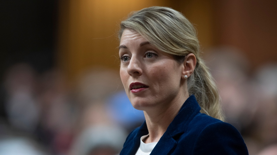 Economic Development and Official Languages Minister Mélanie Joly responds to a question during Question Period in the House of Commons Tuesday January 28, 2020 in Ottawa. THE CANADIAN PRESS/Adrian Wyld