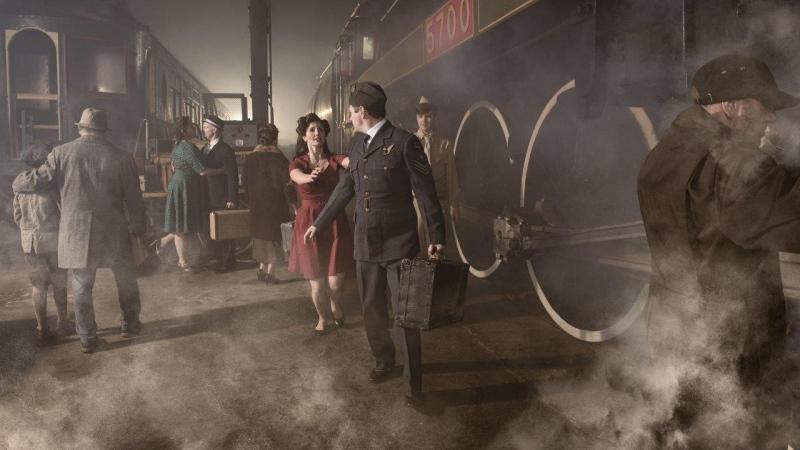 Elgin County Railway Museum setting for time warp photo shoot (Source: Rose Le Studio)