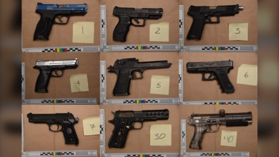 Imitation firearms seized at Oppenheimer Park