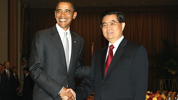President Barack Obama meets with China's President Hu Jintao in New York, Tuesday, Sept. 22, 2009. (AP / Charles Dharapak)