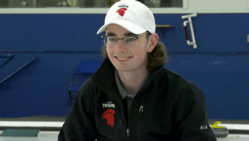 He's one of the leaders of SAIT's regionals-winning men's curling team, and Andrew Manson is our Athlete of the Week. Glenn Campbell reports.