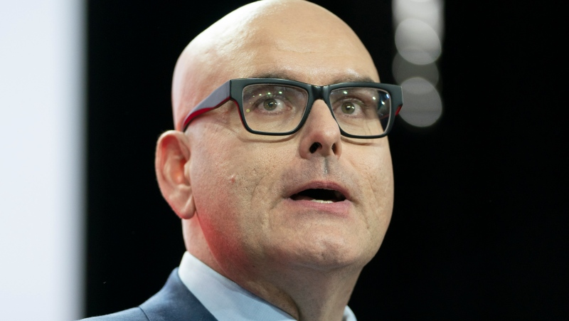 New Ontario Liberal Party Leader Steven Del Duca speaks at the convention in Mississauga, Ont., Saturday, March 7, 2020. THE CANADIAN PRESS/Frank Gunn