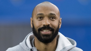 Montreal Impact's head coach Thierry Henry watched his team squander a two-goal lead in Dallas Mar. 7, 2020. THE CANADIAN PRESS/Graham Hughes