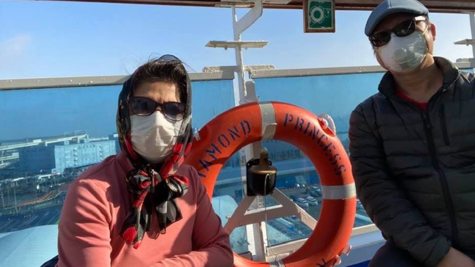 Marichu Camales-Torrijos and her husband, Abelardo, were in quarantine for 14 days aboard the Diamond Princess, and for another two weeks in Canada. (Submitted)