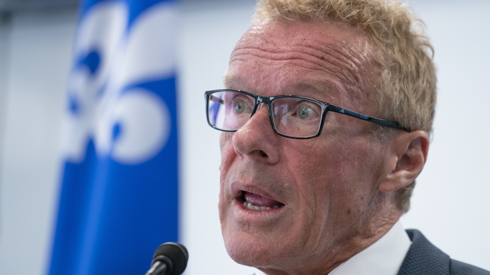 Quebec Labour Minister Jean Boulet presented $714,000 in financial support for a research project aimed at female inclusion in the manufacturing sector Mar. 8, 2020. THE CANADIAN PRESS/Paul Chiasson