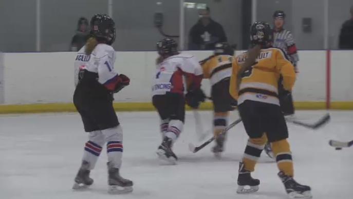 Girl's hockey tournament