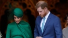 Harry and Meghan the Duke and Duchess of Sussex leave after attending the annual Commonwealth Day service at Westminster Abbey in London, Monday, March 9, 2020. The annual service, organised by the Royal Commonwealth Society, is the largest annual inter-faith gathering in the United Kingdom. (AP / Kirsty Wigglesworth)