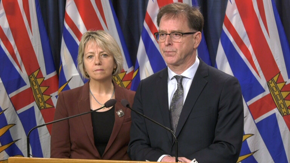 Bonnie Henry and Adrian Dix