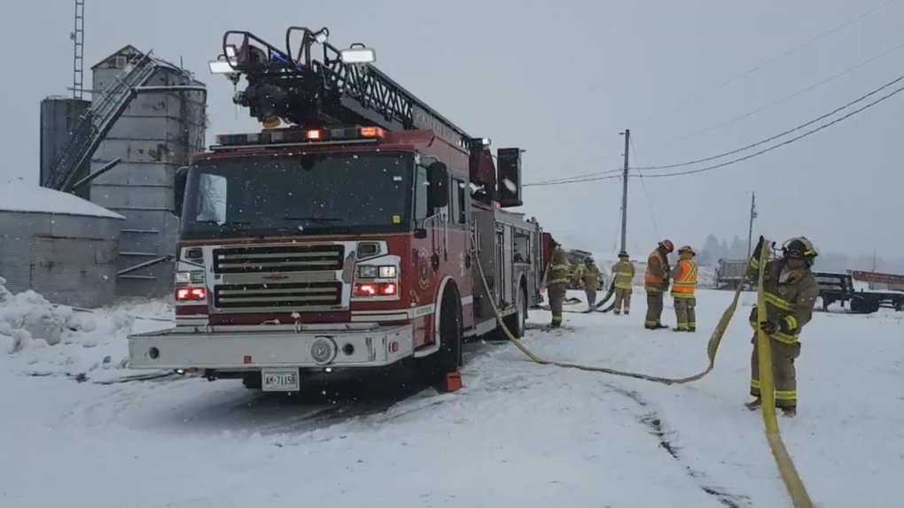 Perth County fire
