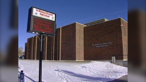 Sir Winston Churchill high school in Calgary was added to the COVID watch list Tuesday