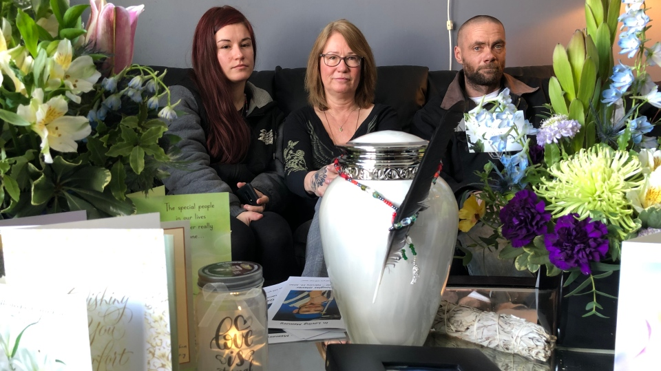 The family of Allan Glasier at their home in Humboldt. (Pat McKay/CTV Saskatoon)