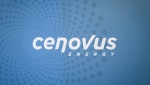 The Cenovus logo seen at the company's headquarters in Calgary, Alta., on November 15, 2017. (THE CANADIAN PRESS / Jeff McIntosh)