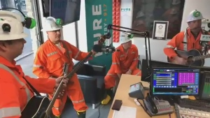Watch Sudbury's Shaft Bottom Boys perform their new song, Creighton Deep, which was performed to win World's Deepest Underground Concert. Mar. 9/20 (Bryan Cooper/Pure Country 91.7)