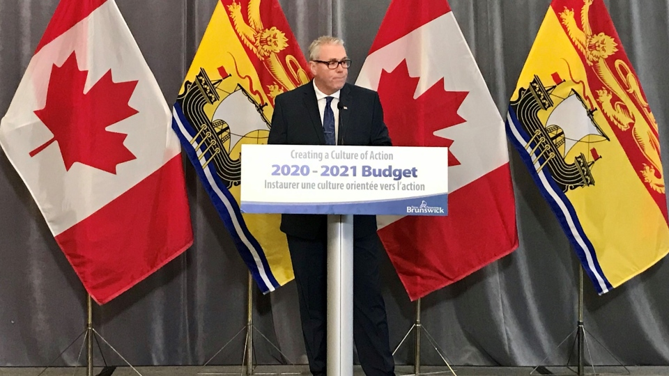 New Brunswick Finance Minister Ernie Steeves tables the provincial budget on March 10, 2020. (Laura Brown/CTV Atlantic)