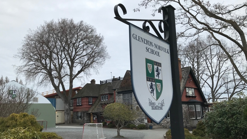 Glenlyon Norfolk School in Oak Bay on Tuesday, March 10, 2020. (CTV News)
