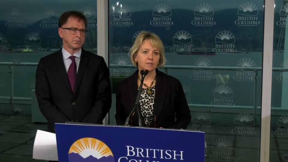 Dr. Bonnie Henry and Adrian Dix