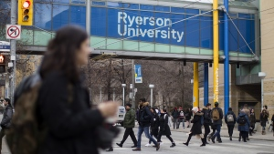 A general view of the Ryerson University campus in Toronto, is seen in this file image from Thursday, January 17, 2019. (THE CANADIAN PRESS/Chris Young)
