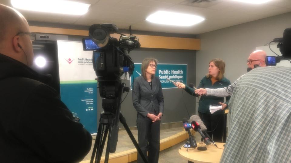 CTV News' Ian Campbell at Sudbury Public Health