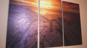 Photographer's works presented on aluminum