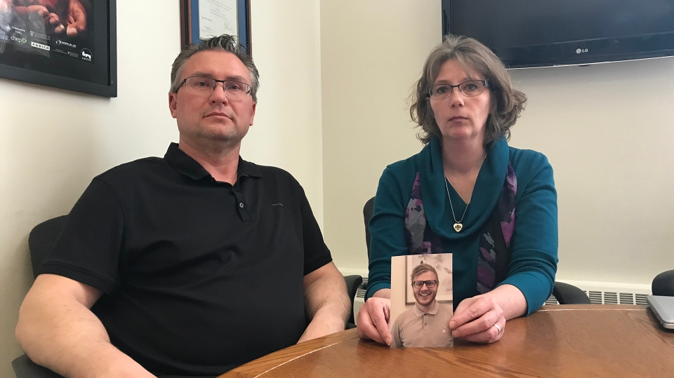 The parents of Steven Rigby are looking for changes to Saskatchewan's mental health supports. Rigby died by suicide in 2018. (Stefanie Davis/CTV News)