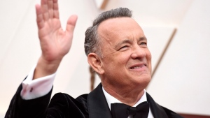 Tom Hanks arrives at the Oscars on Sunday, Feb. 9, 2020, at the Dolby Theatre in Los Angeles. (Photo by Jordan Strauss/Invision/AP)