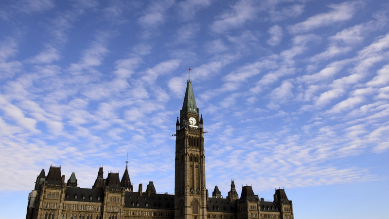 Parliament Hill is shown in Ottawa on March 11, 2020. (Sean Kilpatrick / THE CANADIAN PRESS)