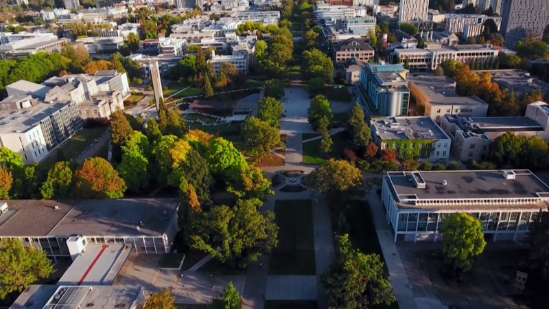 The University of British Columbia campus is pictured.