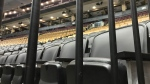 Empty seats are seen inside Scotiabank Arena on March 12. (Craig Wadman)