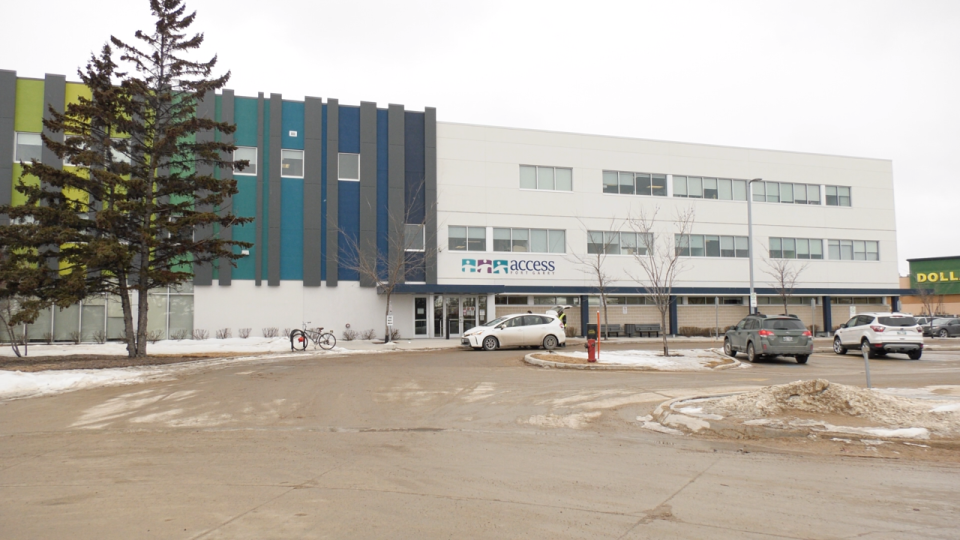 The Access Fort Garry located on Plaza Drive is one of two community screening center's open in Winnipeg where people can be screened for COVID-19. (Source: Scott Andersson/ CTV News Winnipeg)