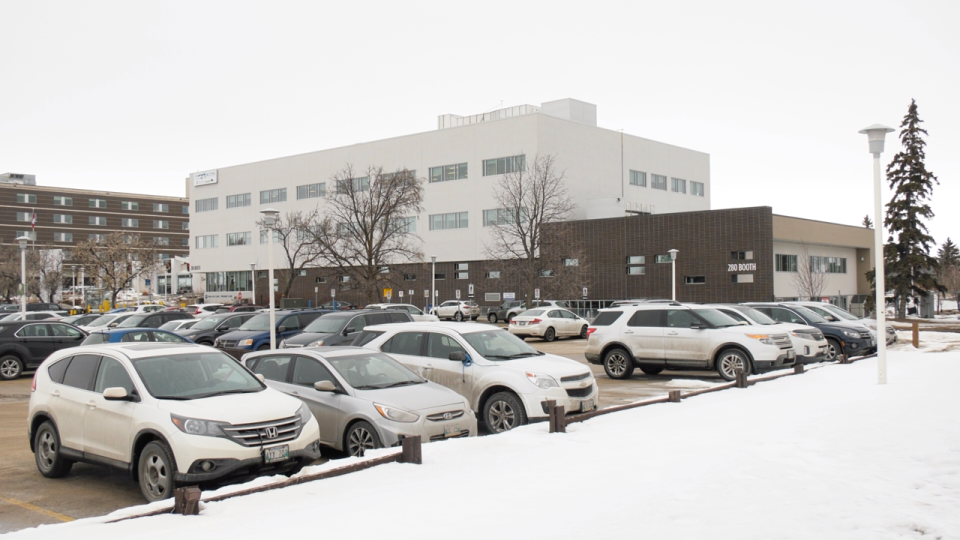 The Access Winnipeg centre on Booth Drive is one of two community screening center's open in Winnipeg where people can be screened for COVID-19. (Source: Scott Andersson/ CTV News Winnipeg)