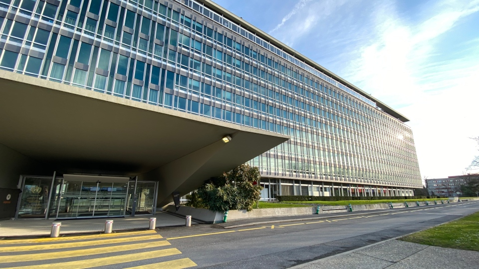 The headquarters for the World Health Organization can be seen in Geneva, Switzerland. (Avery Haines/ W5)