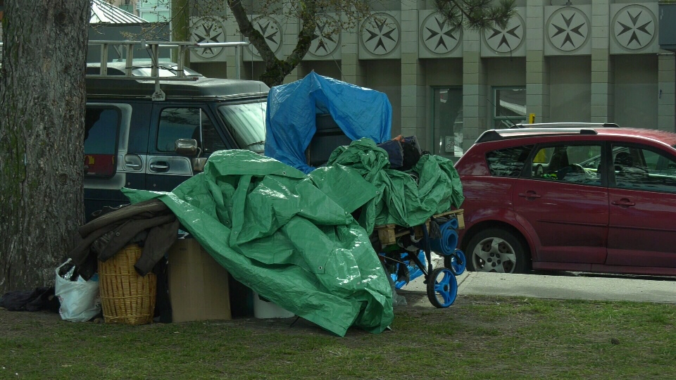 Hundreds of people who were camping in Victoria's Topaz Park and along Pandora Avenue are expected to be moved into indoor sheltering by the end of Wednesday: (CTV News)