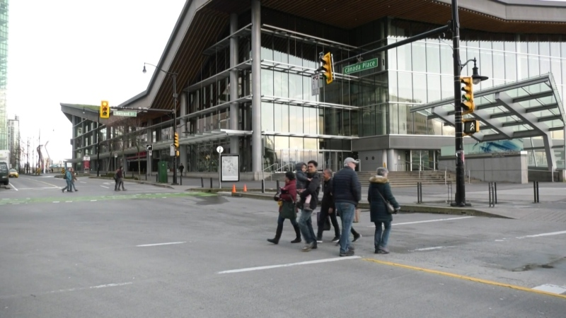 The Vancouver Convention Centre is seen in this photo from March 12, 2020.