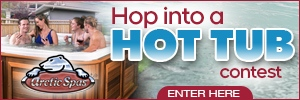 Hop Into A Hot Tub button 2020