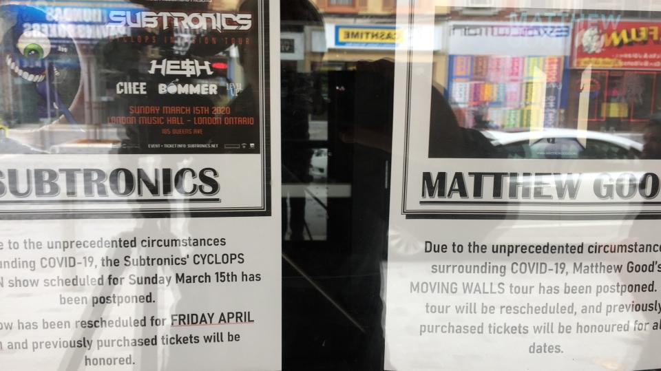 Coronavirus concert cancellations