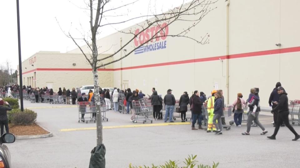 Costco crowds