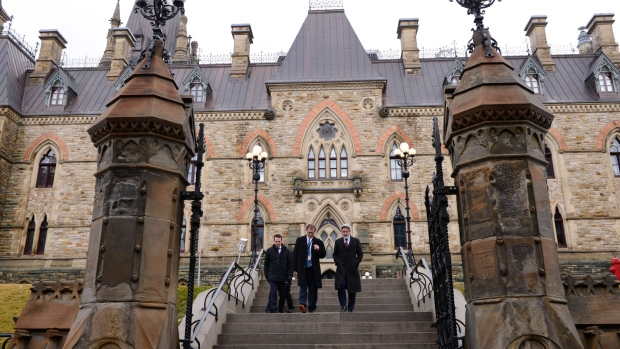 Leader of the Government in the House of Commons Pablo Rodriguez makes his way to a press conference at the National Press Theatre in Ottawa on Friday, March 13, 2020, regarding the COVID-19 pandemic. THE CANADIAN PRESS/Sean Kilpatrick