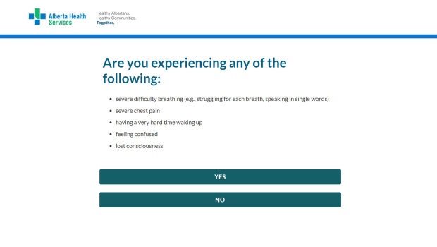 Alberta Health Services Unveils Online Covid 19 Assessment Tool Ctv News