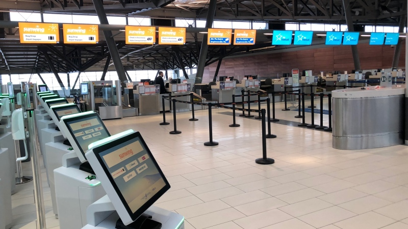 Quiet start to March Break at the Ottawa International Airport (Peter Szperling/CTV News Ottawa)