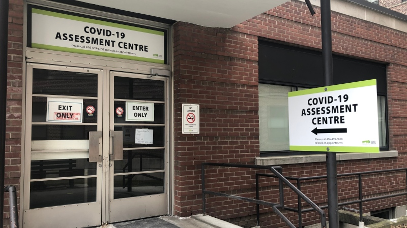 Michael Garron Hospital's assessment centre is seen in this photograph taken on March 13, 2020. (Beth Macdonell/CTV News Toronto)