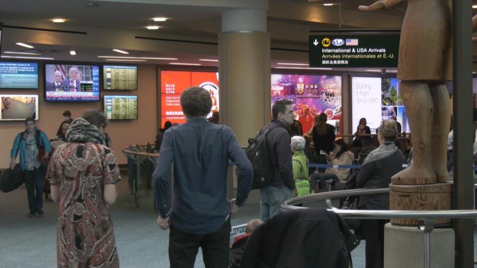 International arrivals at YVR